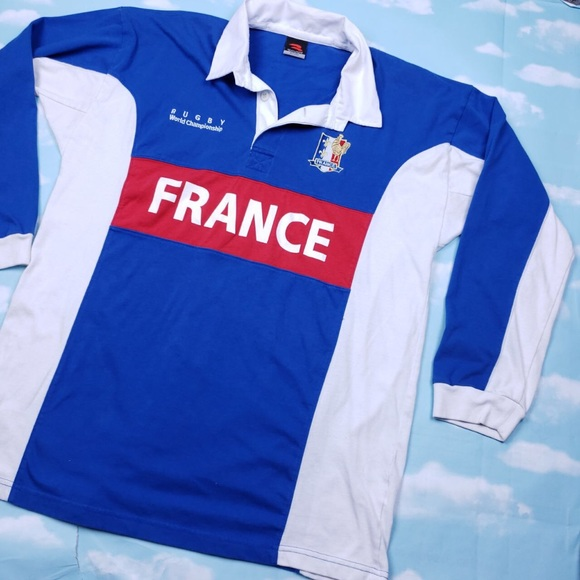 competitive price 6dab0 a8403 France national rugby team longsleeve polo shirt